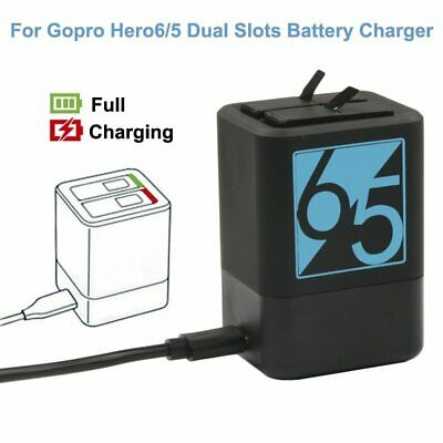 Go pro Hero7 Dual Battery Charger for GoPro Hero 6 5 7 8 Battery USB Type-C Char