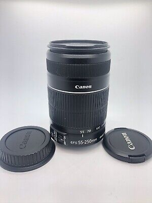 Canon EF-S 55-250mm 4.0-5.6 IS II Zoom Lens With Image Stabilizer Mint Condition