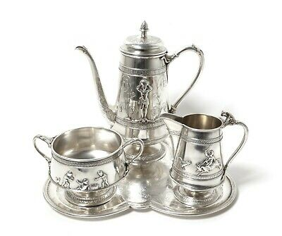 Silver coffee set, 4 items.  Denmark, I. Birch, 1877.