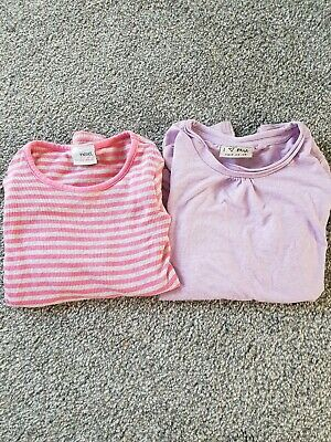 NEXT girls striped and plain longsleeve stretch x2 bundle top age 4 years