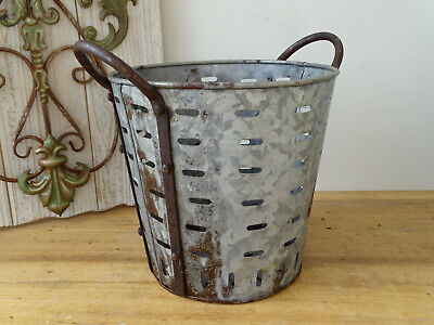 U4711 Small Oliveneimer~Iron~Olivenkorb ~Olive Bucket~ Washtub