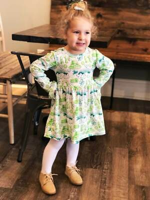 Girls or Toddler St. Patrick's Day Dress, Lucky Charm Outfit 2T 3T 4T 5 6 7 8