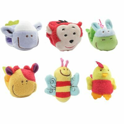 New Baby Gifts Animal Plush Soft Rattles Doll Wrist Strap Toy
