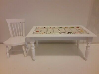 Classics Table and Chair Set Vegetables Used Free Shipping