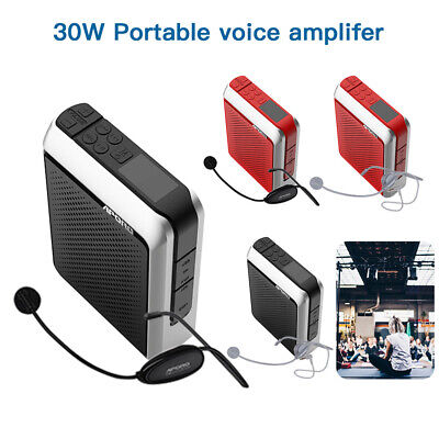 APORO 30W Wired Bluetooth Megaphone Headset Booster Loudspeaker Voice Amplifier