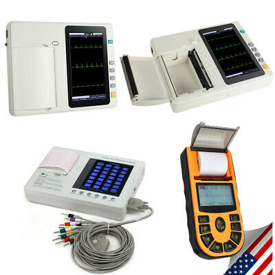 3/6-Channel Digital 12-Lead Electrocardiograph ECG EKG Machine W/ Printer+Paper
