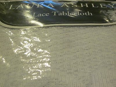 "60x102"" IVORY~OBLONG~LAURA ASHLEY *LACE TABLECLOTH*NEW*"