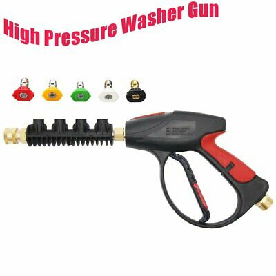 High Pressure Snow Foam Water Car Wash Spray Gun With Multicolored Nozzles Tips