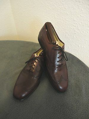 BILL BLASS Vintage Men's Leather Wing Tip Shoes 8.5 Italy - Cordovan/Maroon