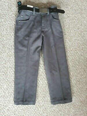 M&S Autograph Adjustable Waist  with belt  boys trousers size 6 yrs BRAND NEW