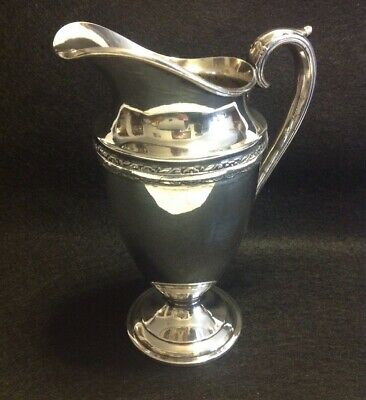 Collectiable Wm Rodgers & Son 10 oz Silverplate Water Pitcher EQUISITE 8034 IS