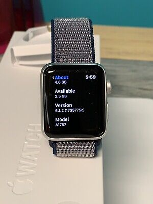 Apple Watch Series 2 38mm Aluminum Case White Sport Band - (MNNW2LL/A)