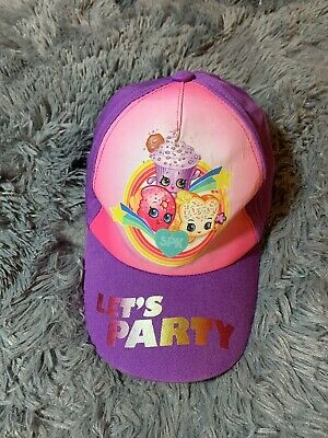 SHOPKINS HAT BASEBALL CAP GIRLS COSTUME BIRTHDAY ADJUSTABLE PURPLE NWT SWEET GIF