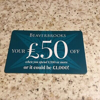 Beaverbrooks £50 Off Gift Card When You Spend £200 Valid Until Dec 24 See T&C's