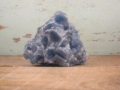 Calcite Natural Blue Crystal Specimen Healing Stone 1lbs 0oz {C1415BC}