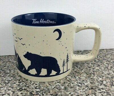 Tim Hortons Coffee 2019 Edition Collectible Holiday Mug Bear Blue Cup Canada