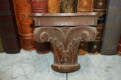 Antique Small Carved Wood Corbel Shelf Bracket Architectural Salvage