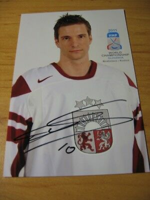 LAURIS DARZINS -  Latvia  - SIGNED PHOTO -  it