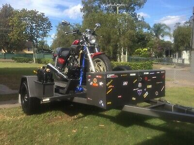 Heavy duty motorcycle trailer hot dipped galvanised