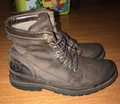 """Timberland Original 6"""" Earthkeeper Brown Leather Style 15550 Mens Sz 10 M Boots"""