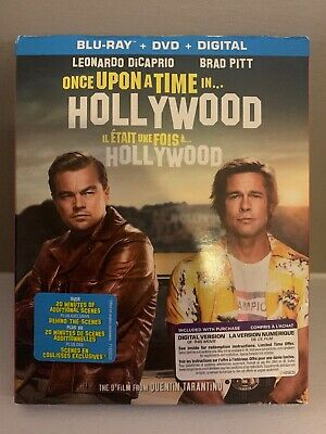 SEALED Once Upon A Time In Hollywood Blu-Ray & DVD & Digital Slipcover Canada