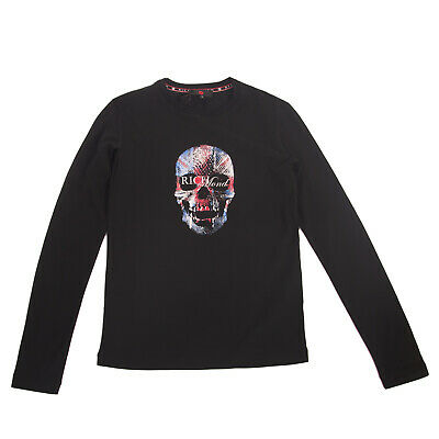 RRP €130 RICHMOND JR T-Shirt Top Size 14Y / 158-164CM Glued Skull Made in Italy