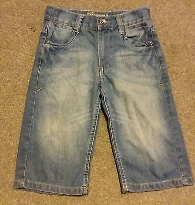 George 6-7Y Denim Boys Shorts Smart Casual Clothing ' Custom cut Skinny Fit '