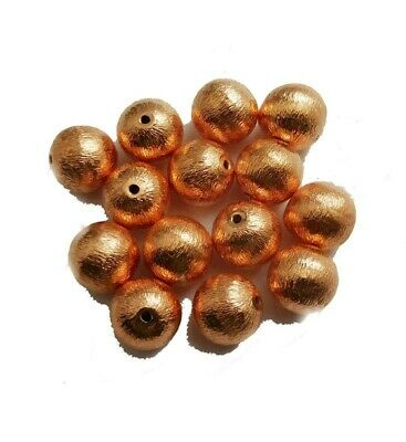 14 Pcs 10Mm Brushed Ball Genuine Copper