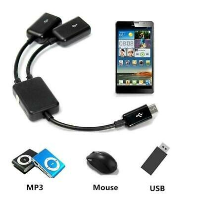Dual Micro USB OTG Hub Host Adapter Cable For Tablet PC Hot Smart Phone and Y6N4