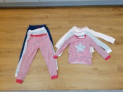 Girls M & S Snuggle Fit Pajamas 3 Pack Age 6-7 Years