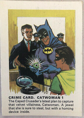 1966 Weeties BATMAN TRADING CARD - Crime Card. Catwoman 1