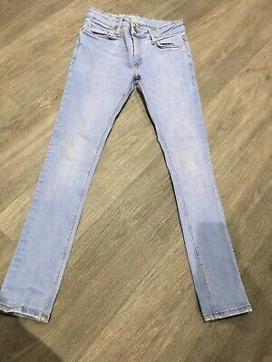 Boys River Island Light Blue Jeans, 26/30, Good Condition