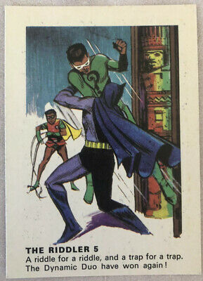 1966 Weeties BATMAN TRADING CARD - The Riddler 5
