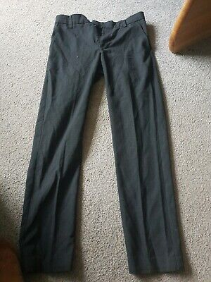 Boys M&S Age 11-12 Years Slim Fit Charcoal Grey School Trousers
