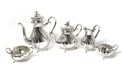Silver tea and coffee set, 5 pcs. Rococo.  Denmark, Carl. M. Cohr, 1926.