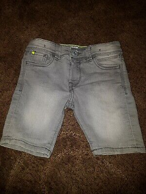 Boys Grey Denim Jeans shorts Age 4 Years