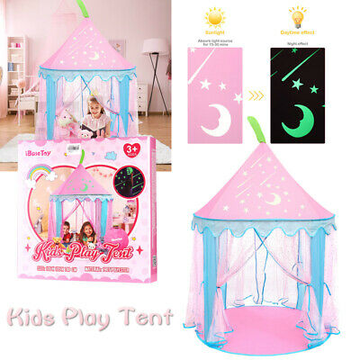 Kids Pop Up Princess Castle Playing Tent Indoor Outdoor Playhouse Xmas Gift Toy
