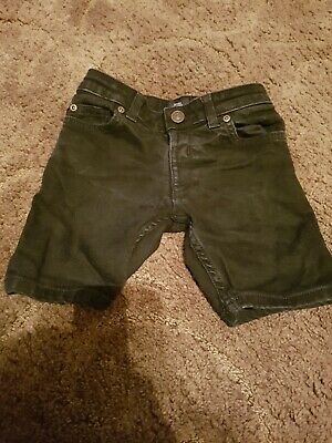 Boys Black River Island Denim Black Jean Shorts Age 3-4 Years