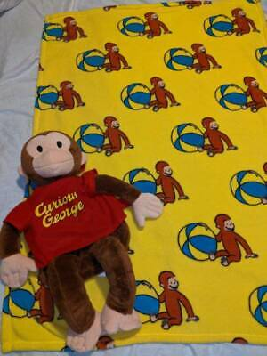 "Zoobies Retired Curious George 23"" Plush & Blanket Combo Pillow 70th Anniversary"