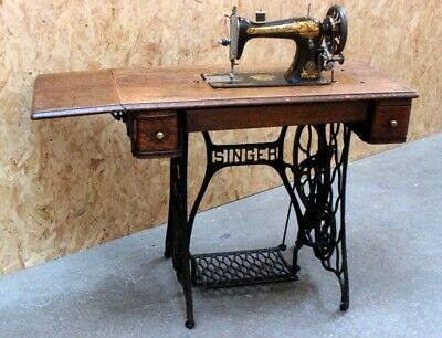 Antique Singer 15k Treadle Sewing Machine c1905 [5799]