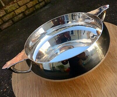 Edwardian Arts & Crafts Antique Silver Fruit Bowl. Substantial Weight!
