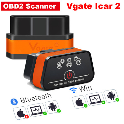 Vgate iCar2 OBD2 Scanner Bluetooth V2.1 Car Diagnostic Tool for Android PC