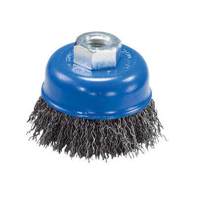 """2-3/4"""" X 5/8""""-11 Hub Carbon Steel Crimped Wire Cup Brush for Angle Grinders"""