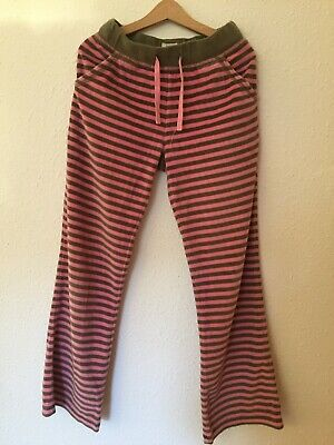 Mini Boden Soft Velour tracksuit jogging bottoms age 6 girls pink brown