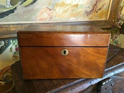 Beautiful English Double Tea Caddy Circa Late 1800s Early 1900s Mahogany