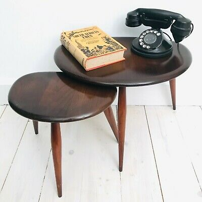 Vintage Mid Century Ercol Pebble Tables