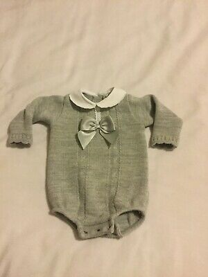Baby girl ROMPER knitted Spanish style