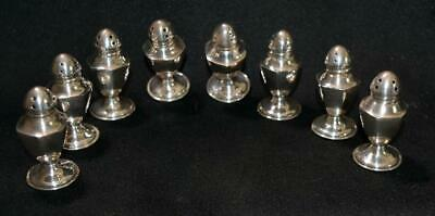Set of 8 Antique Mini Sterling Salt and Pepper Shakers
