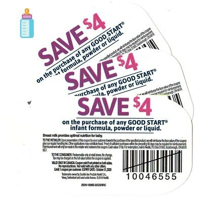 4 x Save $4 on any Goodstart Baby Formula Products NEW Coupons (Canada)