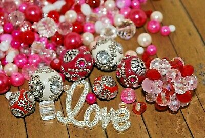 10 Piece Mix of Lilah Ann/'s Cotton Candy /& Dazzleberry Collections Beads BM318